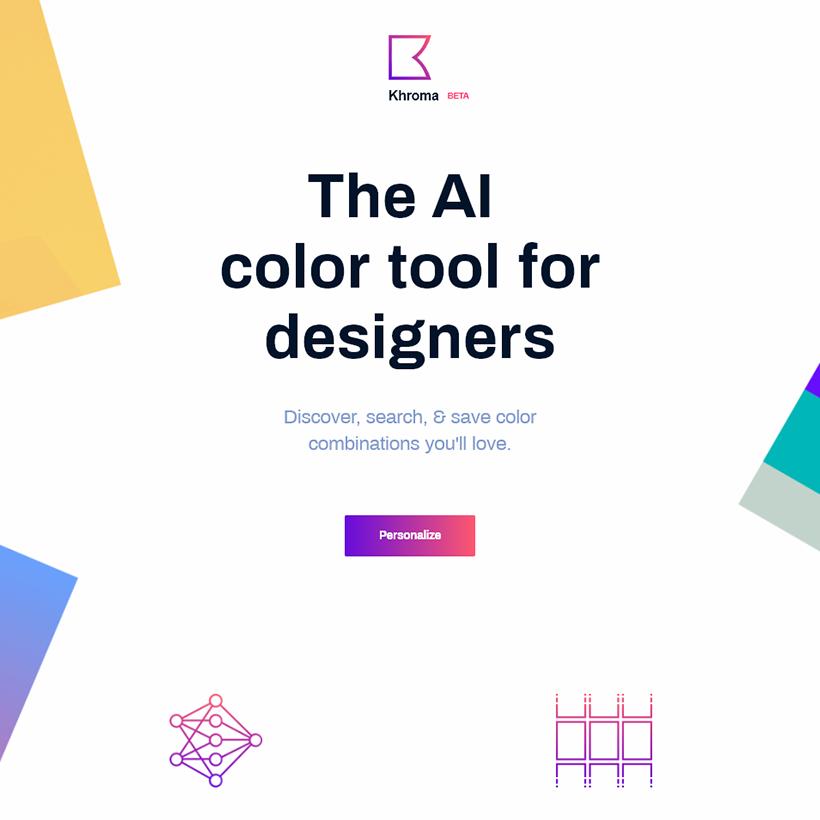 人工知能でカラーパレットを自動生成してくれるツール「Khroma」