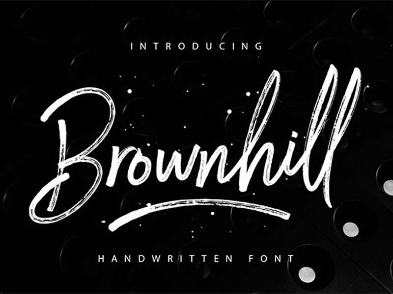 Brownhill – Free Font
