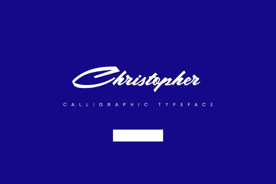 Free Christopher Calligraphic Typeface