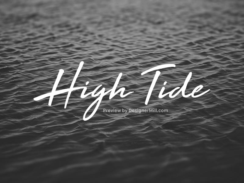 High Tide – Free Font