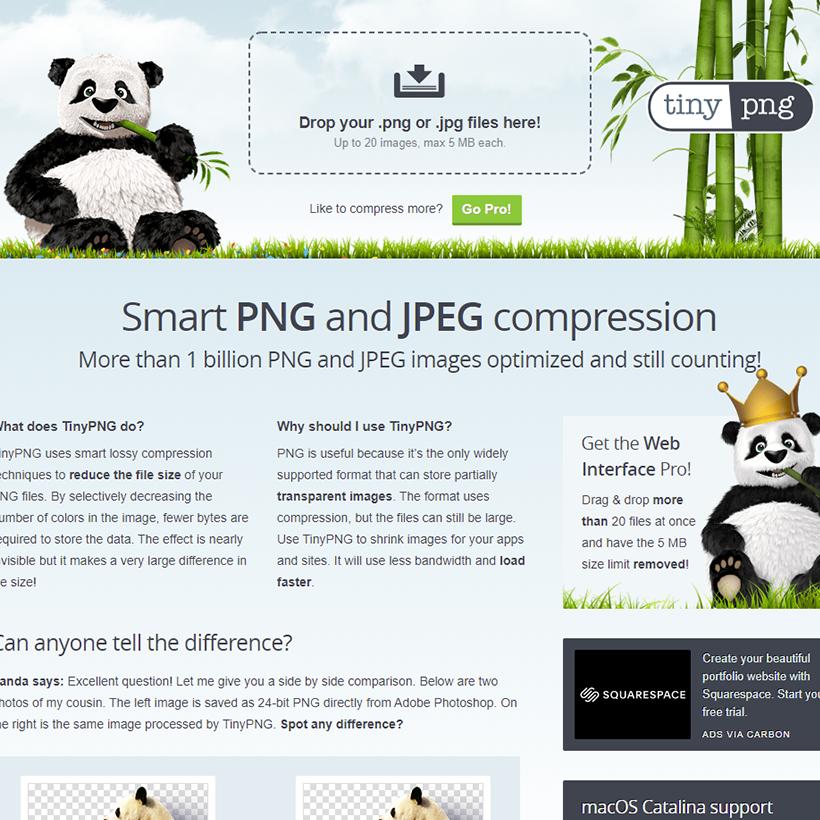 画像容量を減らす便利なWEBサービス「TinyPNG」